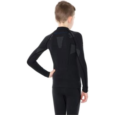 Brubeck Thermo bluza junior męska z długim rękawem czarna