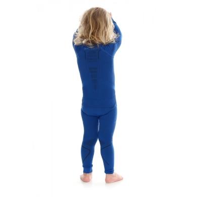 Brubeck Thermo Spodnie kids termoaktywne niebieskie