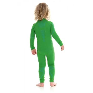 Brubeck Thermo Spodnie kids termoaktywne zielone