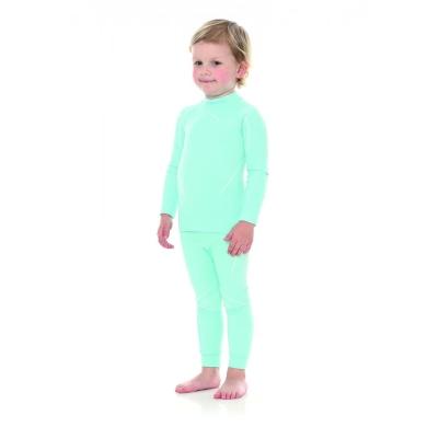 Brubeck Thermo kids bluza dziewczęca z długim rękawem błękitna