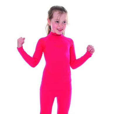Brubeck Thermo bluza junior damska z długim rękawem malinowa