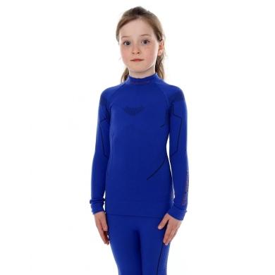 Brubeck Thermo bluza junior damska z długim rękawem kobaltowa
