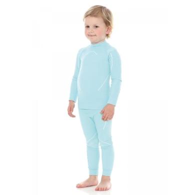 Brubeck Thermo Spodnie dziewczęce kids termoaktywne błękitne