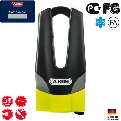 Abus Granit Quick 37 60HB70 Maxi yellow Blokada tarczy hamulcowej żółto czarna
