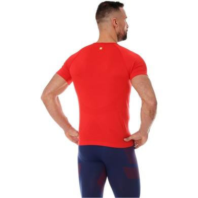 Brubeck Running Air Pro Koszulka męska krótki rękaw czerwona