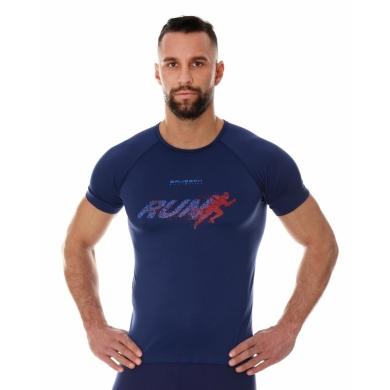 Brubeck Running Air Pro Koszulka męska krótki rękaw granatowa