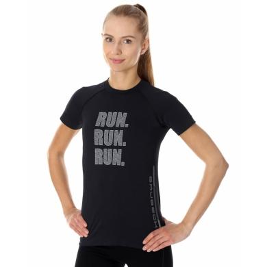 Brubeck Running Air PRO Koszulka damska z krótkim rękawem czarna