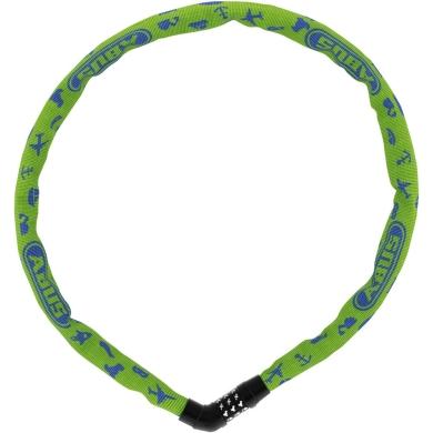 Abus Steel O Chain 4804C Symbols 75cm Zapięcie do roweru lime
