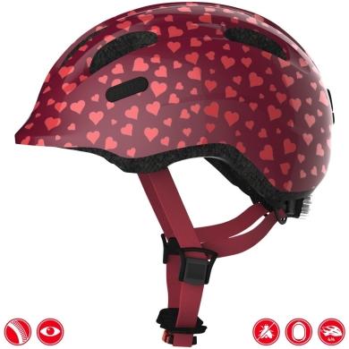 Abus Smiley 2.0 Kask rowerowy dziecięcy cherry heart