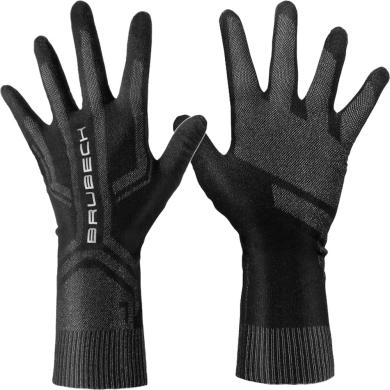 Brubeck Zestaw treningowy dla biegacza komin + rękawiczki czarny