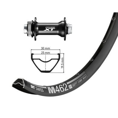 """DT Swiss M462 27,5"""" 15x110mm Shimano Deore XT HB-M8010 Koło przednie"""