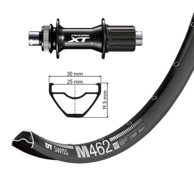 """DT Swiss M462 27,5"""" 12x148mm Shimano Deore XT FH-M8010 Koło tylne"""