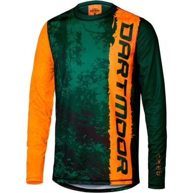 Dartmoor Junior Koszulka z długim rękawem zielono pomarańczowa
