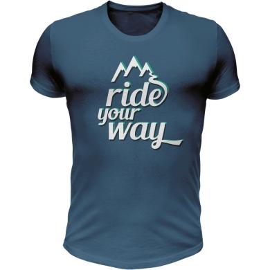 Dartmoor Ride Your Way Koszulka z krótkim rękawem bawełna jeans blue