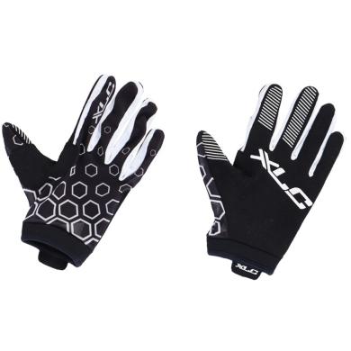XLC CG L14 Rękawiczki rowerowe MTB czarno białe