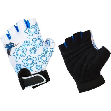 Accent Robo Rękawiczki dziecięce biało niebieskie