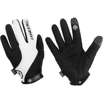 Accent Marathon Rękawiczki długie czarno białe