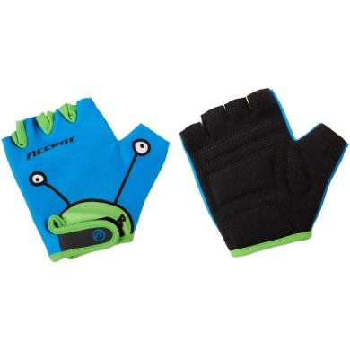 Accent Monster Rękawiczki dziecięce niebiesko zielone