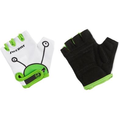 Accent Monster Rękawiczki dziecięce biało zielone