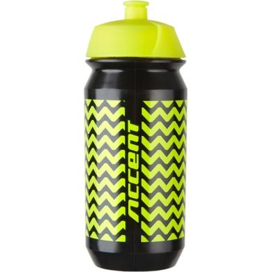 Accent ZigZac Bidon 500ml czarno żółty fluo