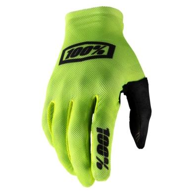 100% Celium Gloves Rękawiczki fluo yellow black