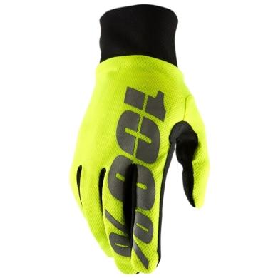 100% Hydromatic Waterproof Gloves Rękawiczki neon yellow