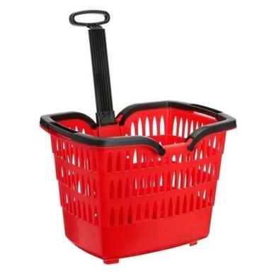 Roto Romeo Koszyk na zakupy do roweru czerwony