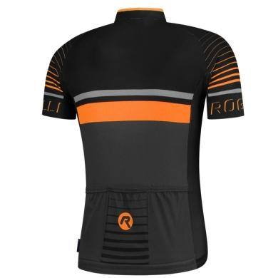 Rogelli Hero Koszulka czarno pomarańczowa
