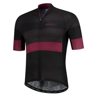 Rogelli Peak Koszulka czarno bordowa