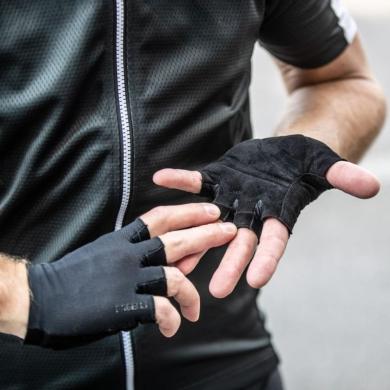 Rogelli Pure Rękawiczki rowerowe czarne