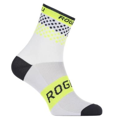 Rogelli RCS-12 Skarpetki rowerowe biało żółte