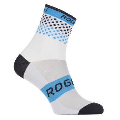Rogelli RCS-12 Skarpetki rowerowe biało niebieskie