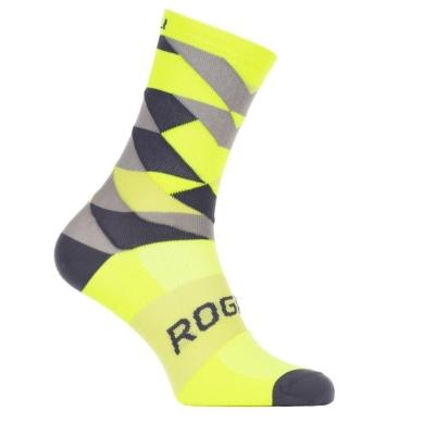 Rogelli RCS-14 Skarpetki rowerowe czarno żółte