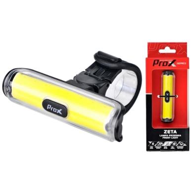 ProX Zeta Lampka rowerowa przednia COB LED 100 Lm aku USB