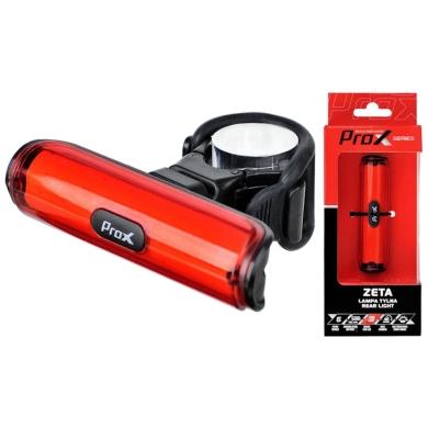 ProX Zeta Lampka rowerowa tylna COB LED 50 Lm aku USB