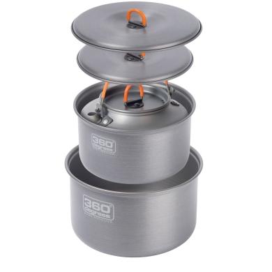 360 Degrees Furno Large Pot Set with Kettle Zestaw naczyń turystycznych
