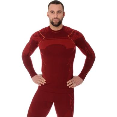 Brubeck Thermo Męska Koszulka termoaktywna bordowa