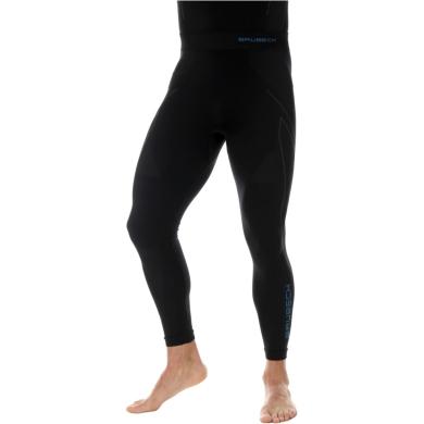 Brubeck Thermo Spodnie termoaktywne męskie czarno niebieskie