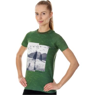 Brubeck City Air Termoaktywna Koszulka damska zielona