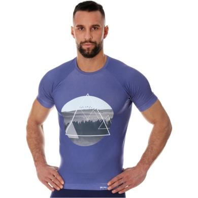 Brubeck City Air Termoaktywna Koszulka męska fioletowa