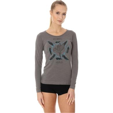 Brubeck Outdoor Wool Pro Termoaktywna Koszulka damska szara