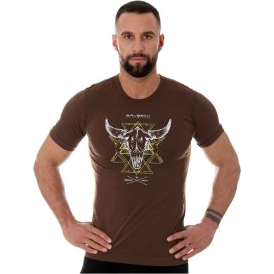 Brubeck Outdoor Wool Pro Termoaktywna Koszulka męska brązowa