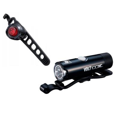 Cateye HL EL051 VOLT100XC ORB SL LD160RC Zestaw lampek