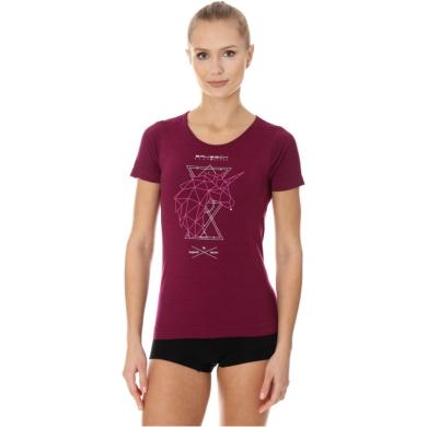 Brubeck Outdoor Wool Pro Termoaktywna Koszulka damska śliwkowa