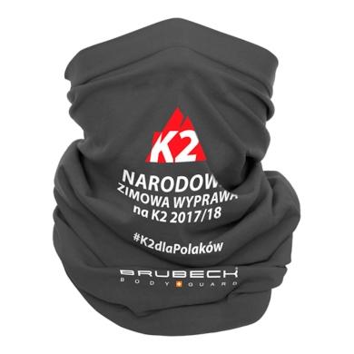 Brubeck K2 Komin wełniany termoaktywny szary