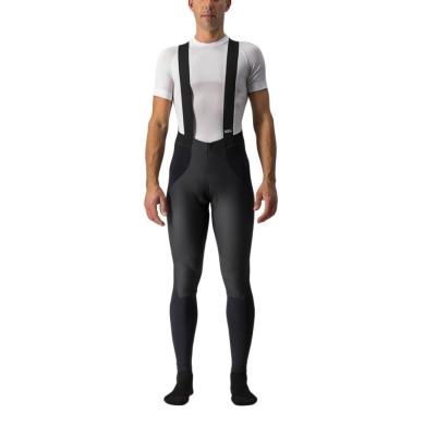 Castelli Sorpasso Ros Wind Spodnie kolarskie na szelkach ocieplane czarne