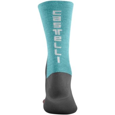 Castelli Bandito Wool 18 Skarpetki kolarskie szaro błękitne