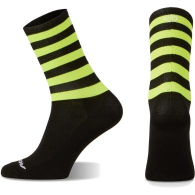 Accent Stripe Long Skarpetki czarno żółty fluo