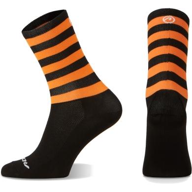 Accent Stripe Long Skarpetki czarno pomarańczowy