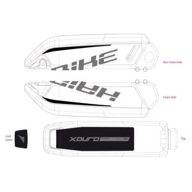 Haibike Naklejki na akumulator Bosch do XDURO Full Carbon Pro czarno zielone